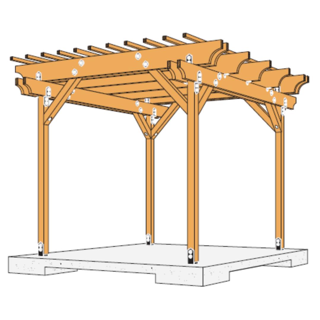 DIY Pergola Kit_building plan image